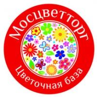 Логотип (торговая марка) Мосцветторг - сеть цветочных магазинов.