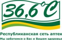 Логотип (торговая марка) Аптеки 36,6, Республиканская сеть